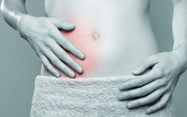 Локализация боли при типичном анатомическом расположении аппендикса