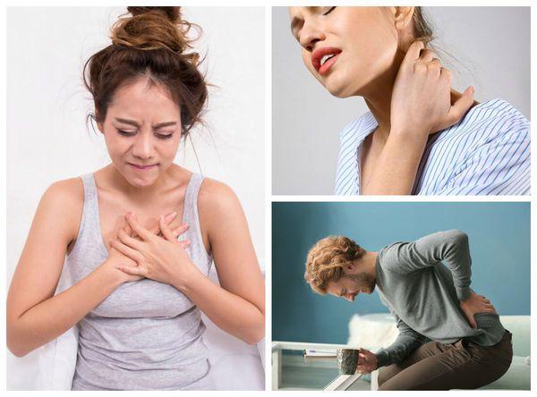 Локализация боли при компрессионном переломе позвоночника