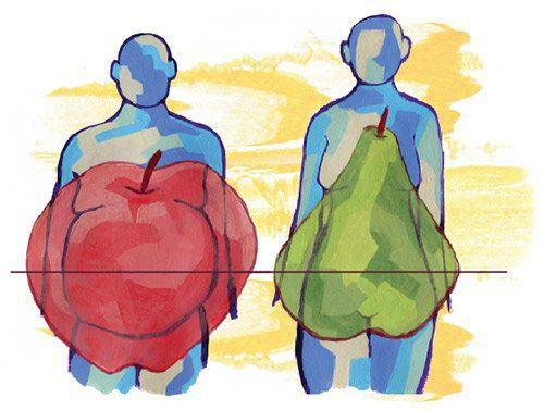 Абдоминальное и гиноидное ожирение