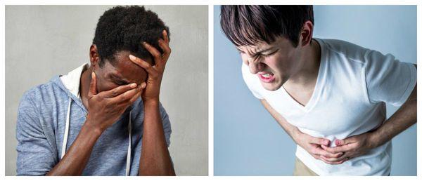 Головокружение и боль в животе при аддисоническом кризе