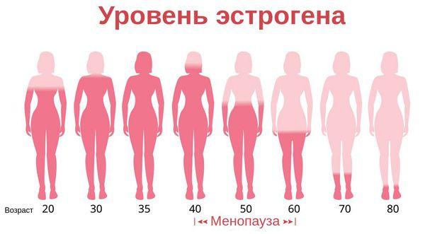 Снижение уровня эстрогена с возрастом