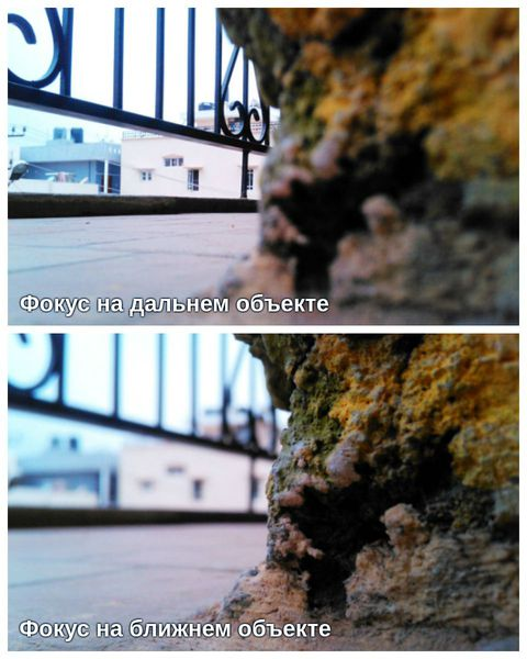 Фокусировка взгляда на дальнем и ближнем объекте