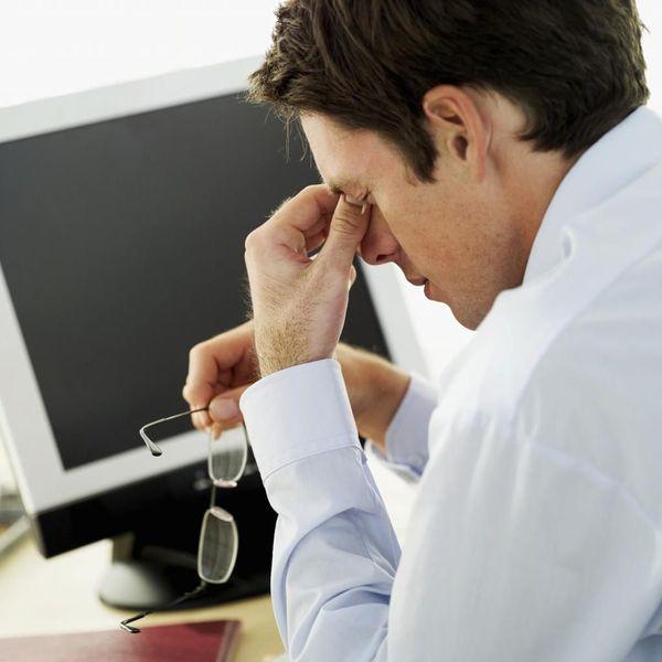 Усталость и ощущение песка в глазах после долгой работы за компьютером