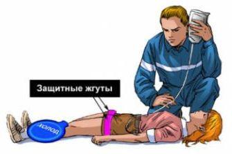Первая помощь при синдроме длительного сдавления