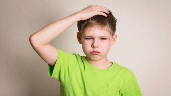 Внешний вид ребёнка после сотрясения